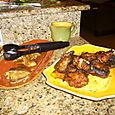 Brown Sugar-Peanut Chicken and Jerk Tilapia