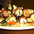 Honey-grilled vegetables