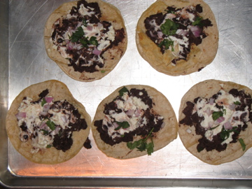 Black Bean and Goat Cheese Tostadas