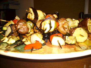 Honey-grilled vegetables
